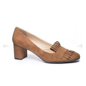 CL by Laundry micro suede heels size 8